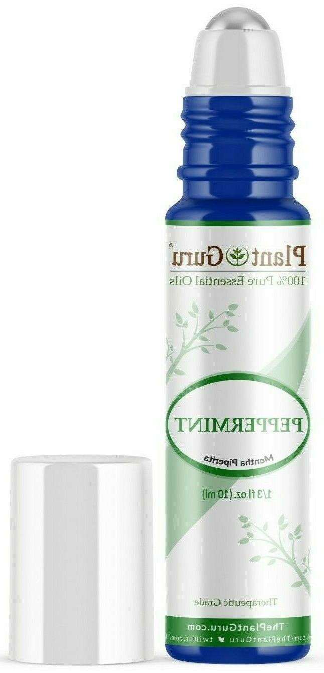 Peppermint Essential Oil Roll On 10 ml. Pre-diluted Fraction