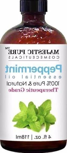 Majestic Pure Peppermint Essential Oil Premium Quality 4 fl.
