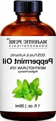 Majestic Pure Peppermint Essential Oil Pure Natural Therapeu