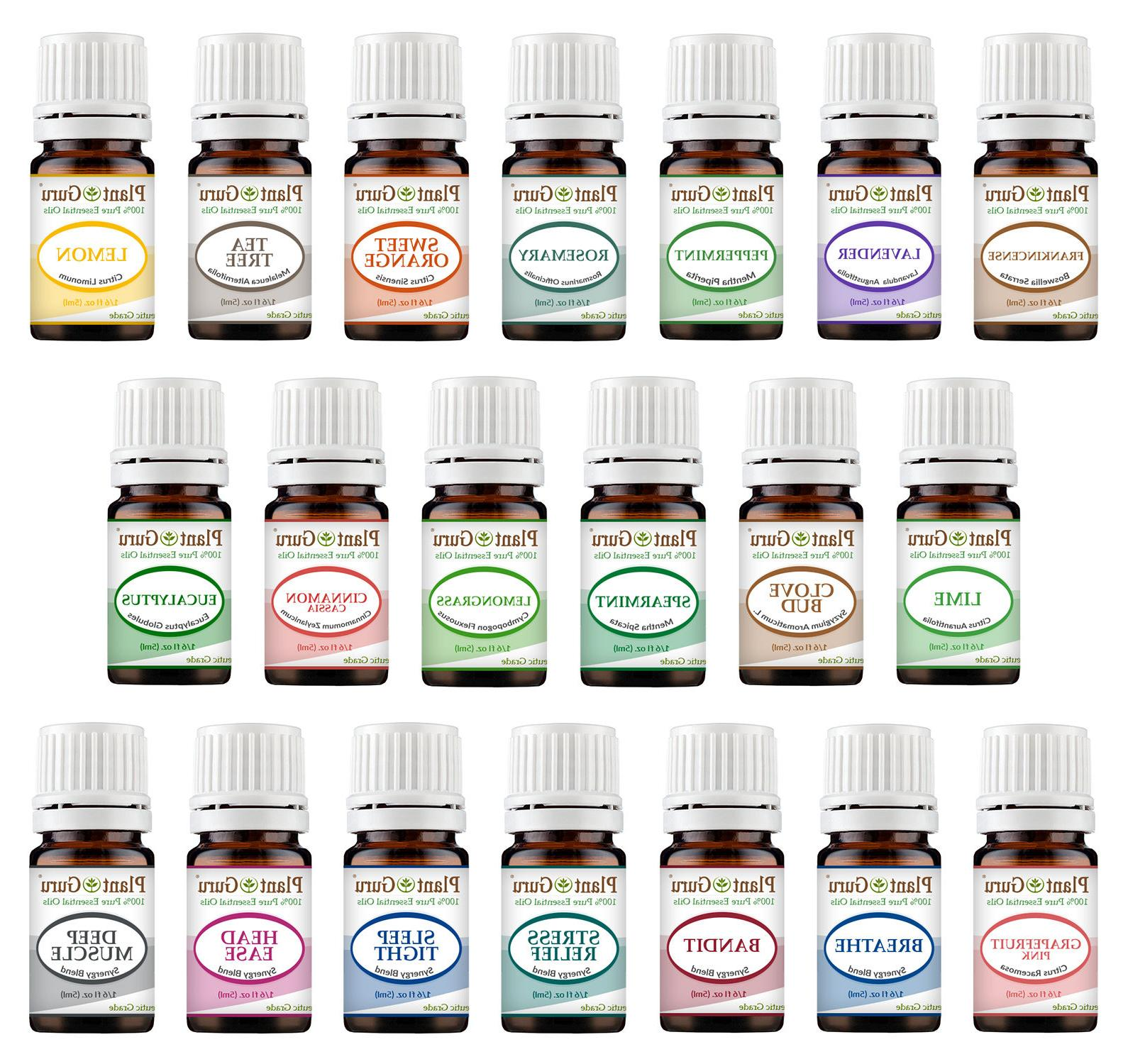Essential Oil Set 20 - 5 ml. Sampler Kit 100% Pure Therapeut