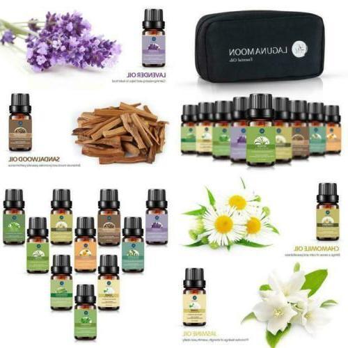 Lagunamoon Pure Set Fragrance Oil Aromatherapy 10 Pcs With Bag US