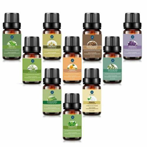 Lagunamoon Essential Oils Set Oil Aromatherapy 10 Pcs With Bag US