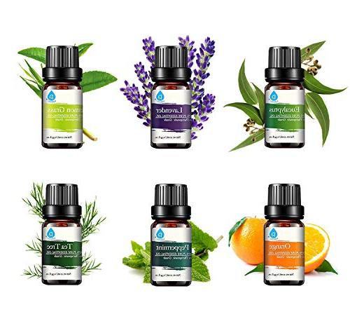 Pursonic 100% Pure Aromatherapy Oils Gift Set-6 Pack ,