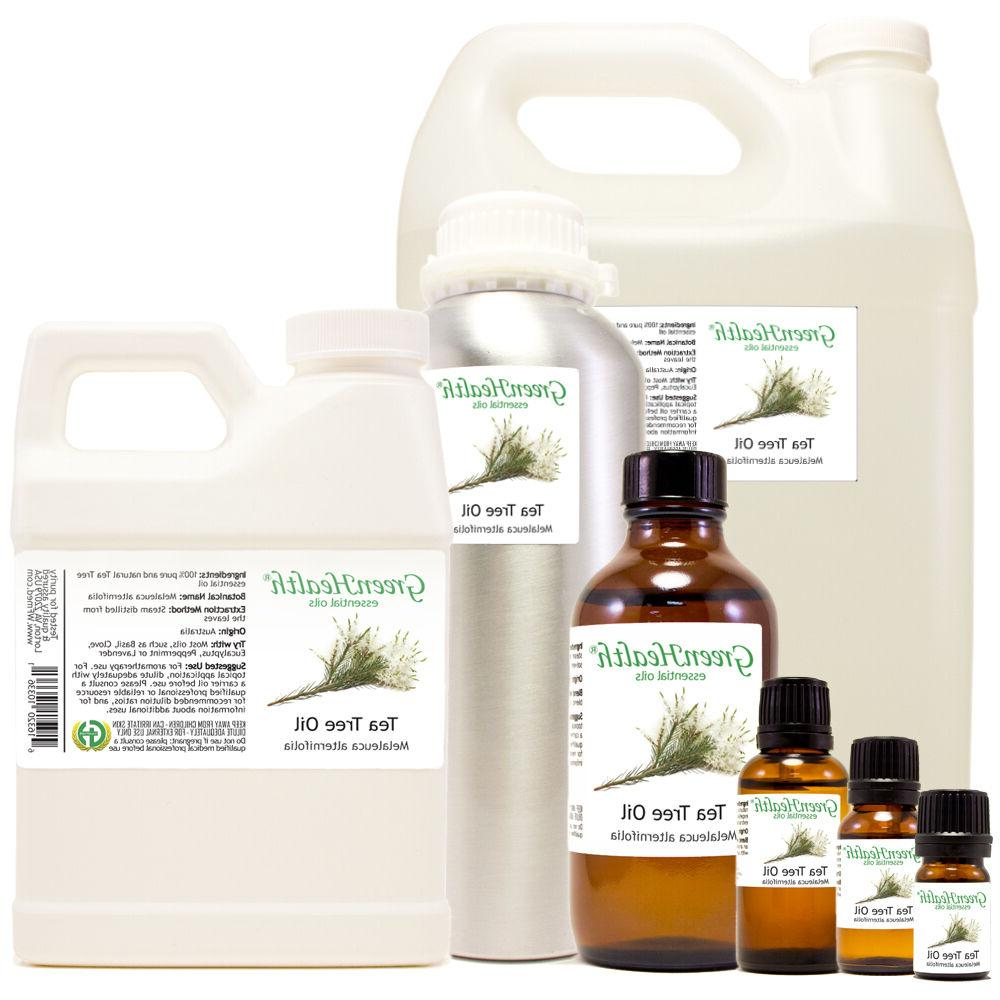 GreenHealth Tea Tree Essential Oil 100% Pure Many Sizes Free