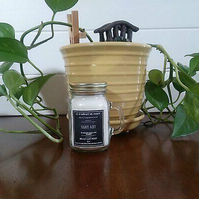 Tea Tree Oil Candles | Mason Candles | Essential