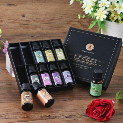 LAGUNAMOON Pure Aromatherapy Oil Set w/