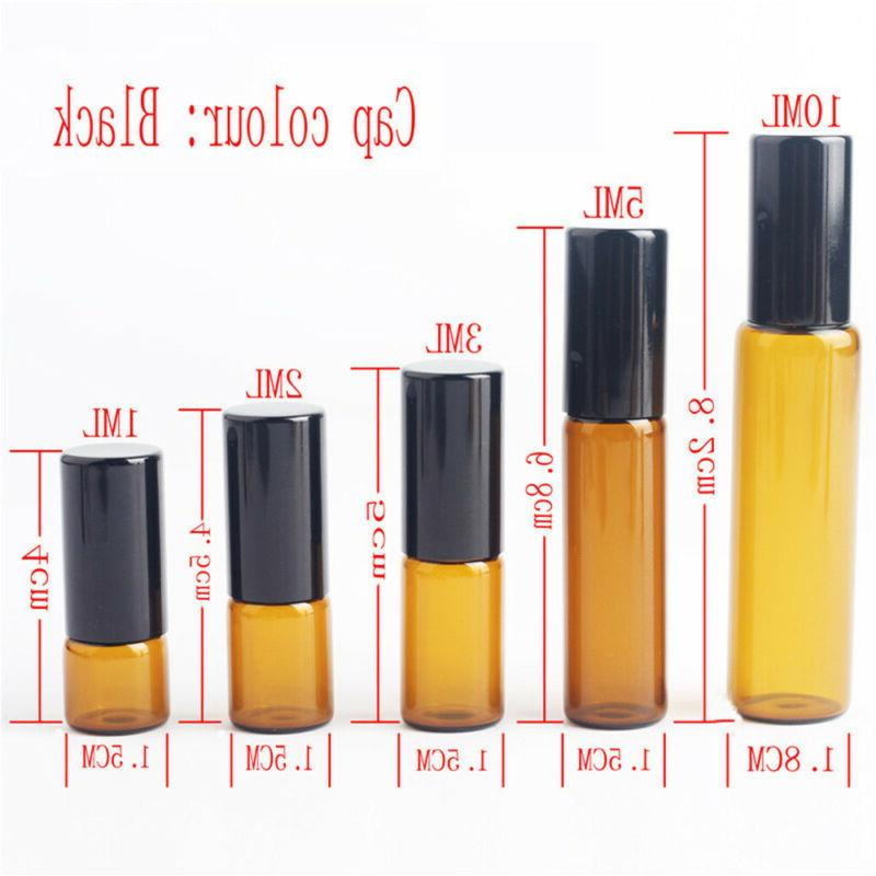 Travel Empty Oil Bottle Amber Ball Container