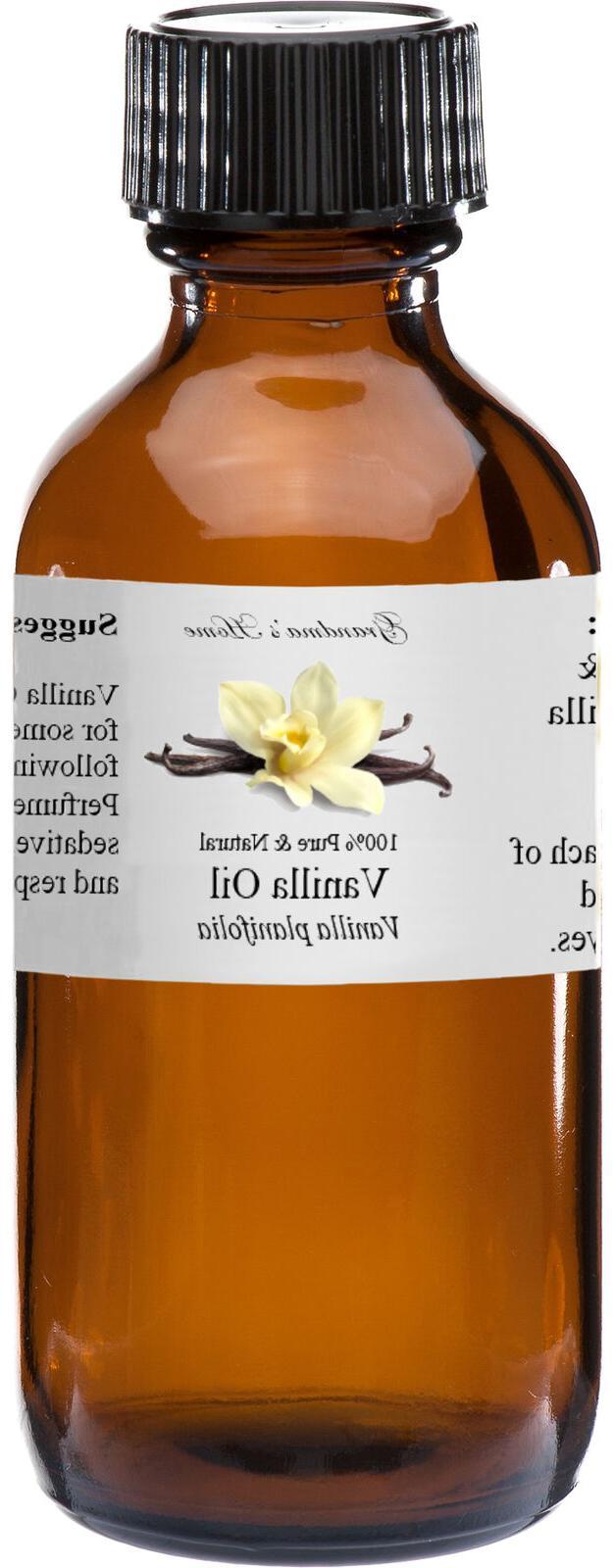 Vanilla Essential Oil - 4 oz - 100% Pure and Natural - Free