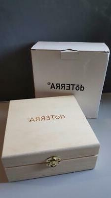doTerra Wooden Essential Oil Box Storage Case Carrier Holds