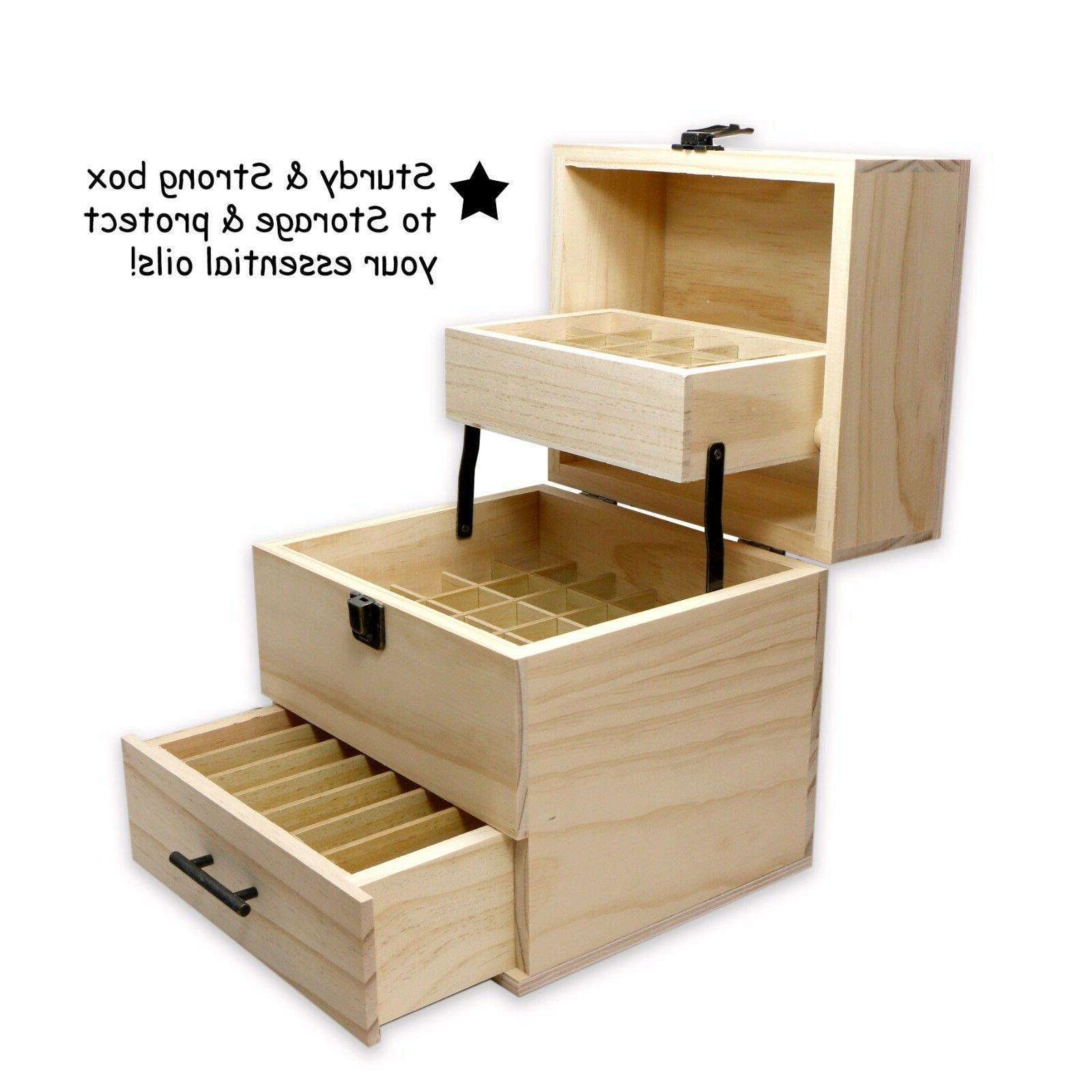 SXC 59 Slot Essential Oil Wooden Organizer - 3