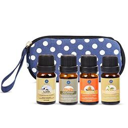 Lagunamoon Essential Oils Set with Travel Bag, Premium Thera