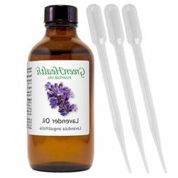 4 fl oz GreenHealth Lavender Essential Oil w/ 3 Free Dropper