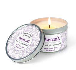 Lavender Aromatherapy Soy Candle Tin with 100% Pure Essentia