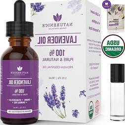 Naturenics Premium Lavender Essential Oil - 100% Undiluted P