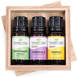 Plant Therapy Lemon, Lavender and Peppermint Gift Set. 100%