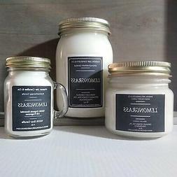 Lemongrass - Essential Oil Candles | Soy Candles | Mason Jar