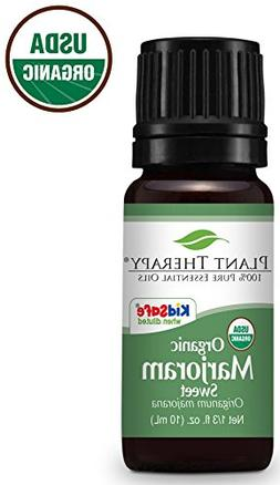 Plant Therapy Marjoram Organic Essential Oil 10 mL  100% Pur