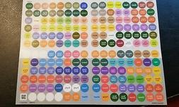 NEW doTERRA Essential Oil  bottle and vial CAP LABELS- STICK