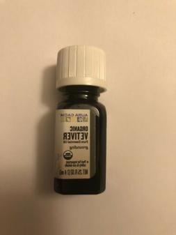 New AURA CACIA *Organic* VETIVER 0.25 fl oz PURE ESSENTIAL O