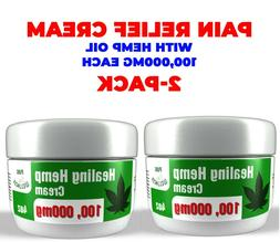 Pain Relief Cream with 100,000mg Hemp Seed Oil & Essential O