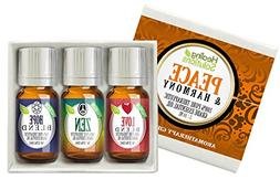 Peace & Harmony Blends Set 100% Pure, Best Therapeutic Grade