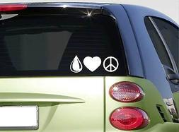 Peace Love Oil sticker decal *f440* essential oil oregano la