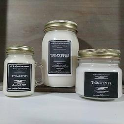 Peppermint - Essential Oil Candles | Soy Candles | Mason Jar