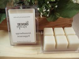 Peppermint Essential Oil Scented Soy Wax Candle Melt- Maximu