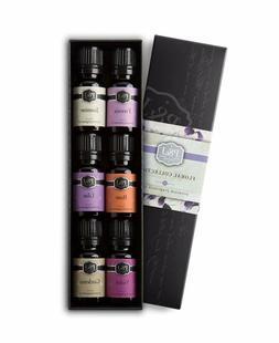 PJ Trading Floral Set of 6 Premium Grade Fragrance Oils - Vi