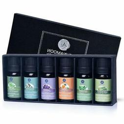 Lagunamoon Pure Essential Oils Top 6 Gift Set  for Diffuser,