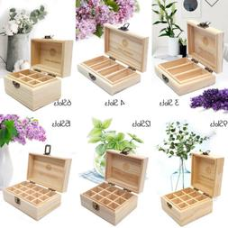 RA Essential Oil Storage Box - 3 6 9 12 15 Slots Essential O