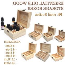 RA Essential Oils Storage Wooden Box Organizer Case 3 6 9 12