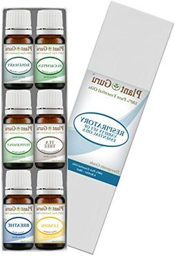 Respiratory Essential Oil Set 6-10 ml Pack Variety Kit 100%