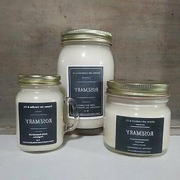 Rosemary - Essential Oil Candles | Soy Candles | Mason Jar C