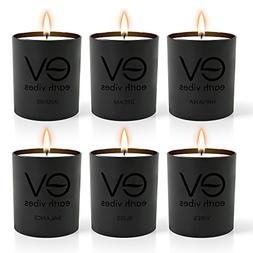 Earth Vibes Scented Candles Gift Set 6 Pack - Aromatherapy S