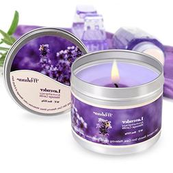 Scented Candles Lavender Aromatherapy Candles Soy Wax Massag