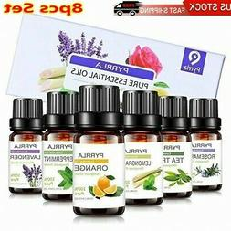 8PCS Essential Oil Set 100% Pure Natural Aroma Therapeutic G