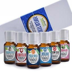 Set of 6 Essential Oil Healing Solutions Best Blends Therape