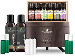 Plant Therapy Essential Oil Starter Set with Wood Grain Arom