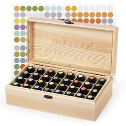 Onepure 32 Slot Essential Oil Storage Box Wooden Oil Case Or