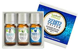 Stress Relief Blend Set 100% Pure, Best Therapeutic Grade Es