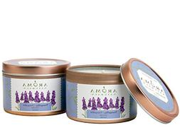 Aroma Naturals Tin Candle Lavender Essential Oil Natural Soy