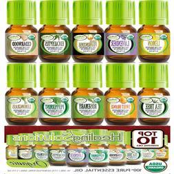 Top 10 Organic Essential Oils Set  USDA Certified