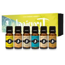 Tropical Gift Set of 6 Premium Grade Fragrance Oils - Coconu