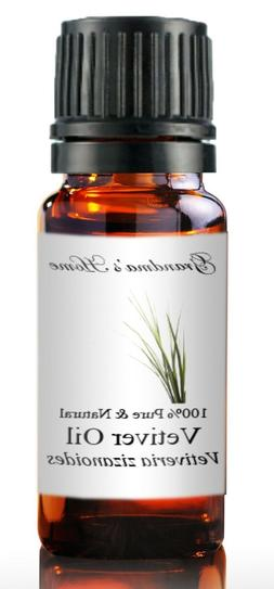 Vetiver Essential Oil - 5 mL - 100% Pure and Natural - Free