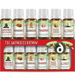 Winter Essential Oil Set of 6 Fragrance Oils - Christmas Wre