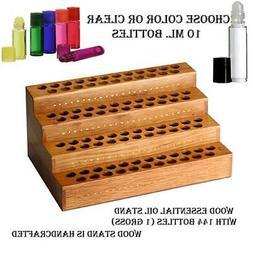 Wood Perfume/Fragrance Display Stand & 144 1/3 oz.  Glass Ro