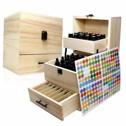 SXC 59 Slot Essential Oil Wooden Box Multi-Tray Organizer -