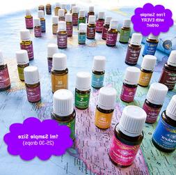 Young Living Essential Oil SAMPLES  Free Shipping -  BUY MOR
